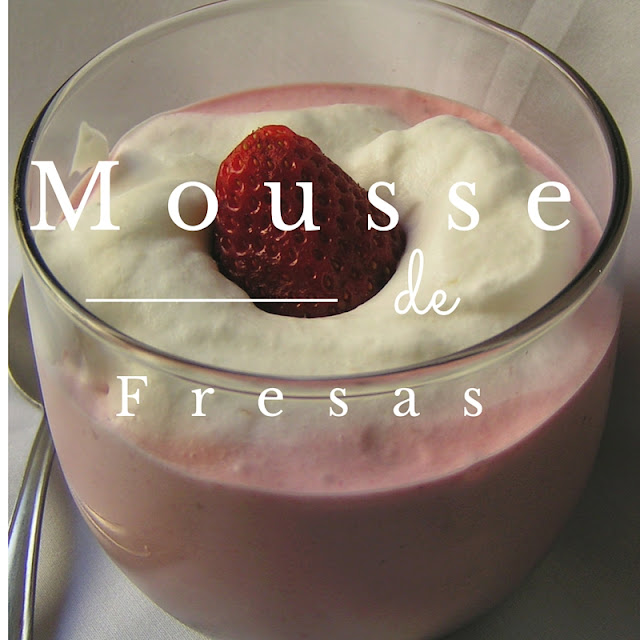 Mousse de fresas - Morrico Fino
