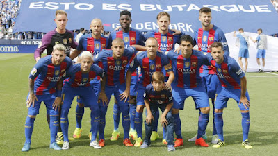 FC Barcelona starting 11 team photo vs Leganes