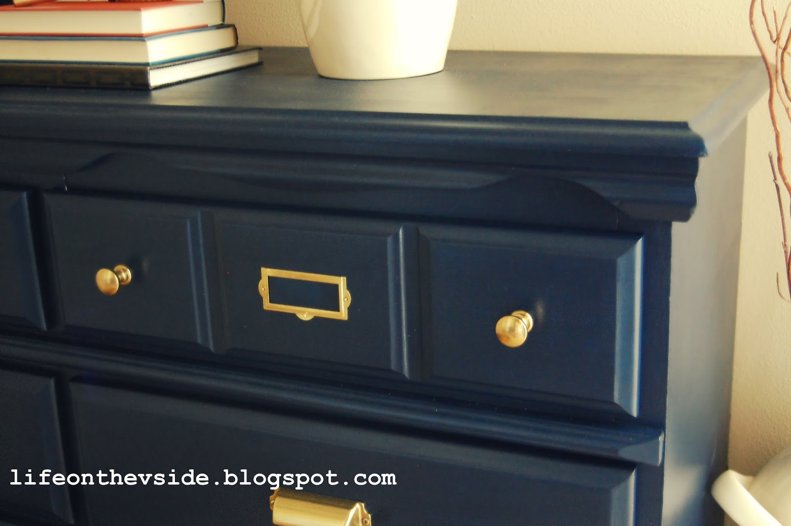 Kitchen Drawers Instead Of Cabinets On The V Side In The Navy Dresser Update Amp Storage Solution