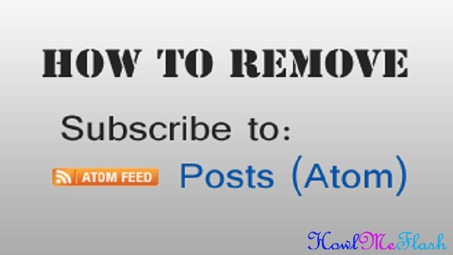 Remove Subscribe to Posts Atom from Blogger