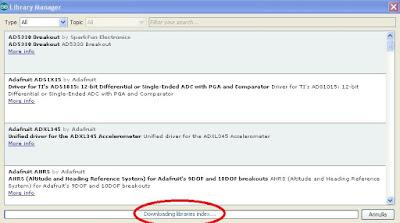 Gestione Librerie IDE Arduino Versione 1.6.5 - Fonte Arduino IDE