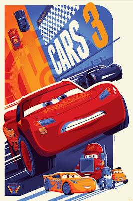 Cars 3 Disney Pixar Screen Print by Tom Whalen x Cyclops Print Works