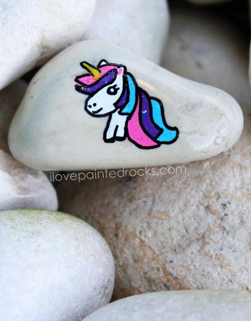 Easy unicorn rock painting craft idea