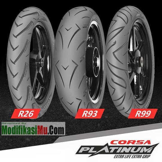 Jenis Ban Motor corsa-platinum-r26-r93-r99 - Update Promo Daftar Harga Ban Motor Corsa Platinum R26 R93 dan R99 Spesial Racing Balapan Kering Basah