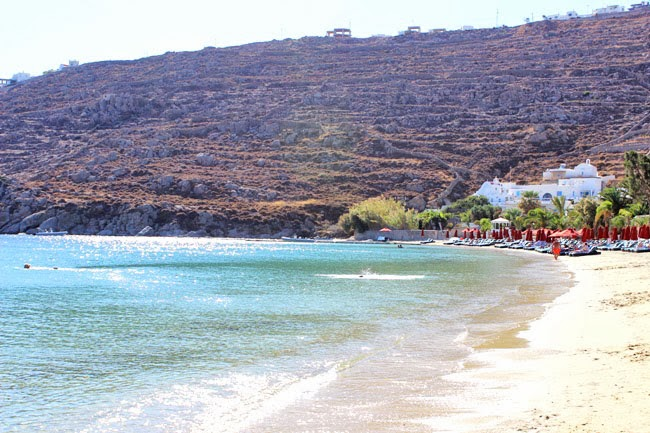 Mykonos island beaches for famous people