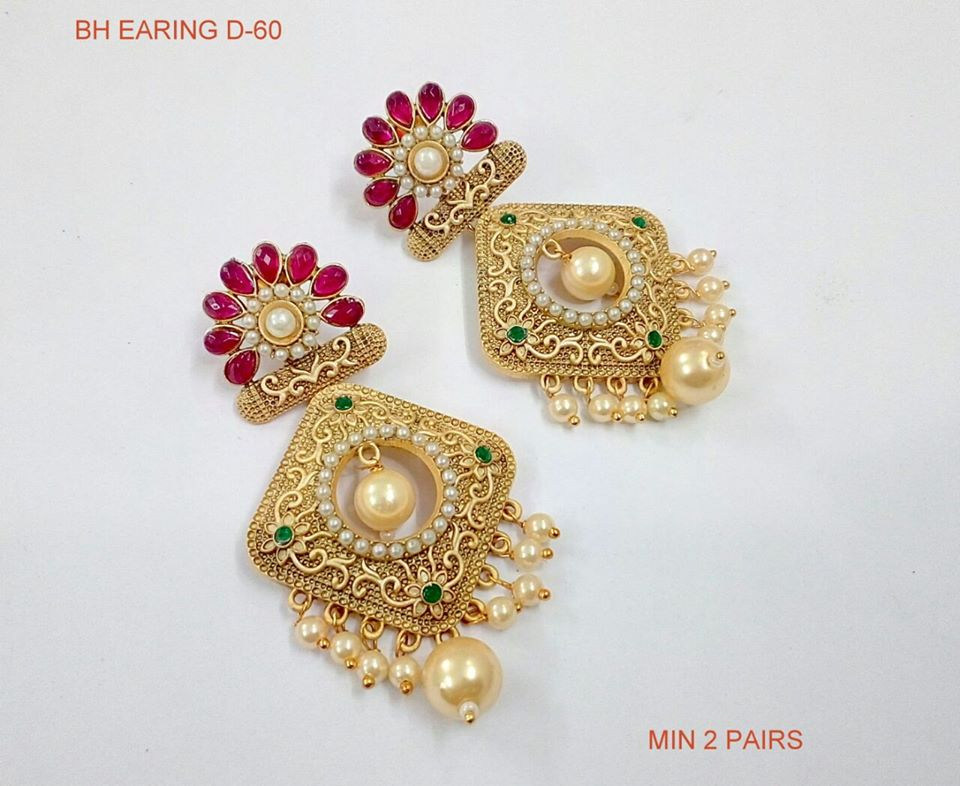 Exclusive 1grm Gold Earrings Collection | Buy Fashionable Ear ...