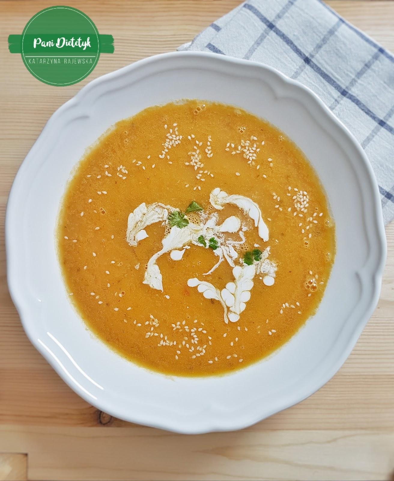 Zupa krem z soczewicy i batatów