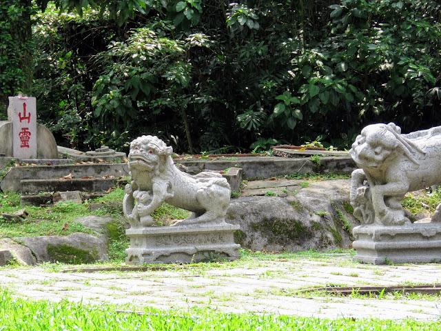 Ruined gravesite in Tiong Bahru neighborhood of Singapore