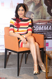Adha Sharma in a Cute Colorful Jumpsuit Styled By Manasi Aggarwal Promoting movie Commando 2 (147).JPG