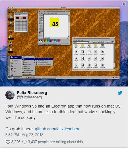 تشغيل ويندوز Windows 95 كتطبيق على أنظمة ويندوز و ماك و لينكس