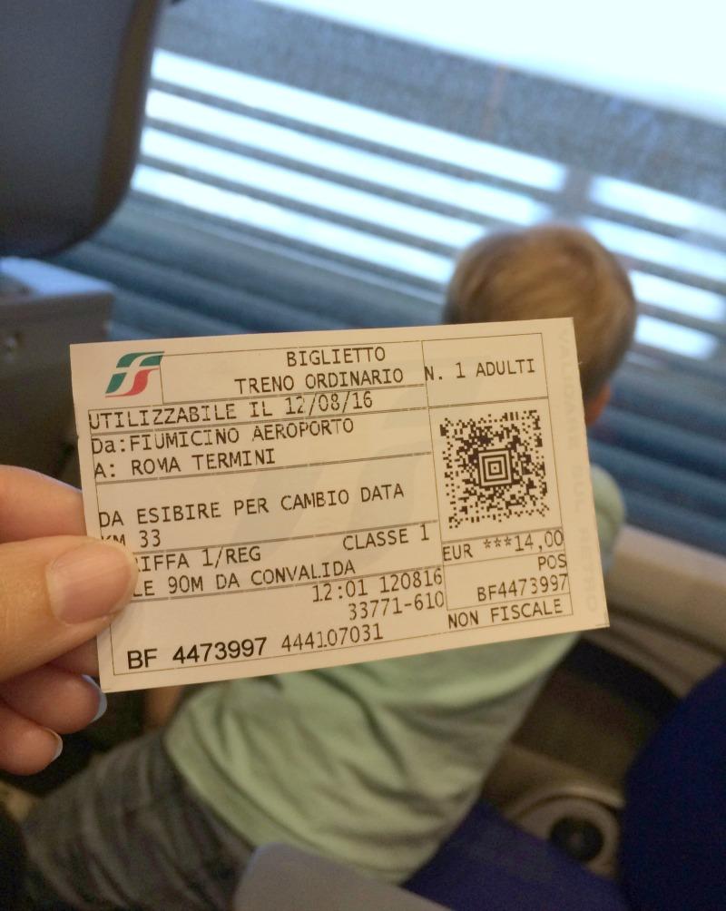 junalla roomaan lentokentältä