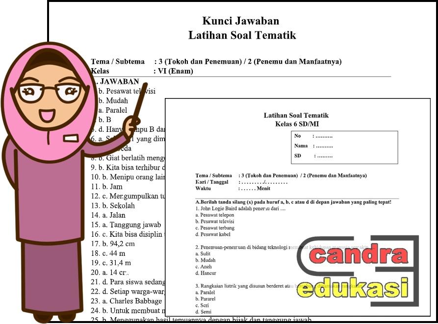 Soal Tematik Kelas 6 Tema 3 Subtema 2 Dan Kunci Jawaban Teori Dan Soal
