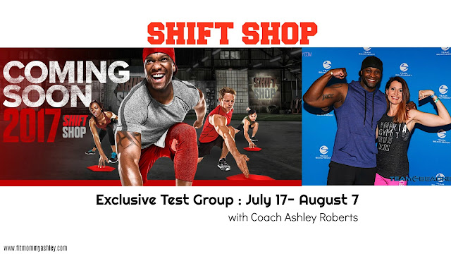shift shop, test group, launch, beachbody, ashley roberts, vip, exclusive, results, fitness, workout, program, 3 weeks, meal plan