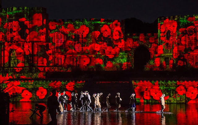 world war poppy scene at Kynren