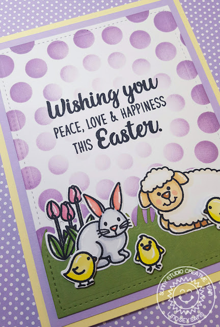 Sunny Studio Stamps: Easter Wishes Easter Themed Animal Card by Lindsey Sams