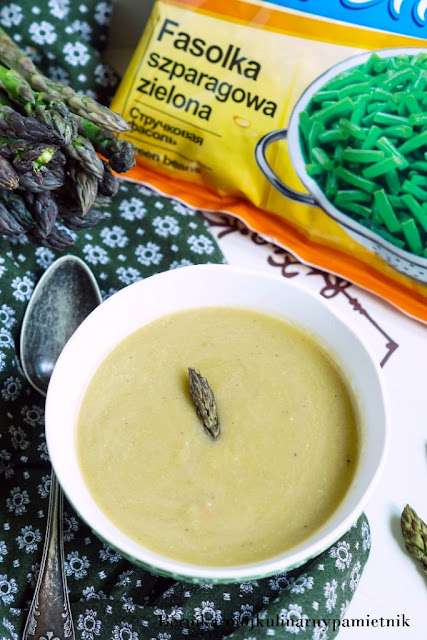 zupa, szparagi, fasolka, szparagowa, bernika, kulinarny pamietnik, poltino