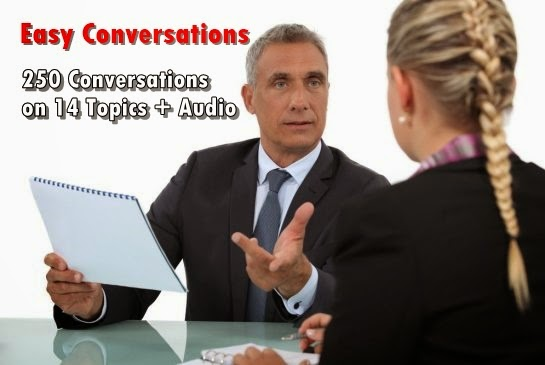 Easy Conversations - 250 Conversations on 14 Topics + Audio