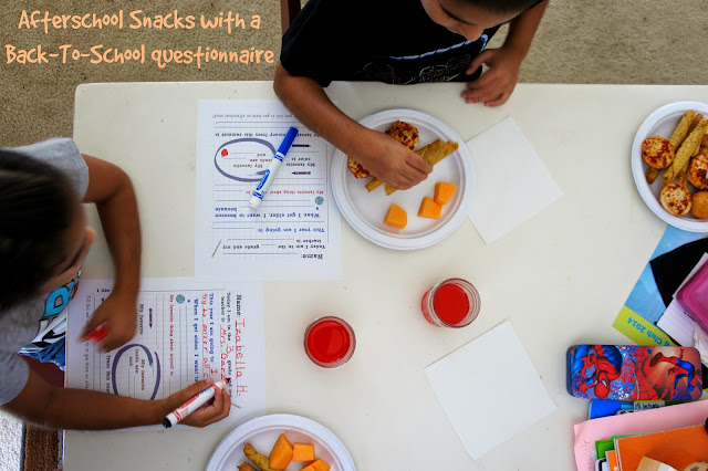 Getting kids to talk about school with #AfterSchoolSnacks - Printable Questionnaire and Coupons #shop