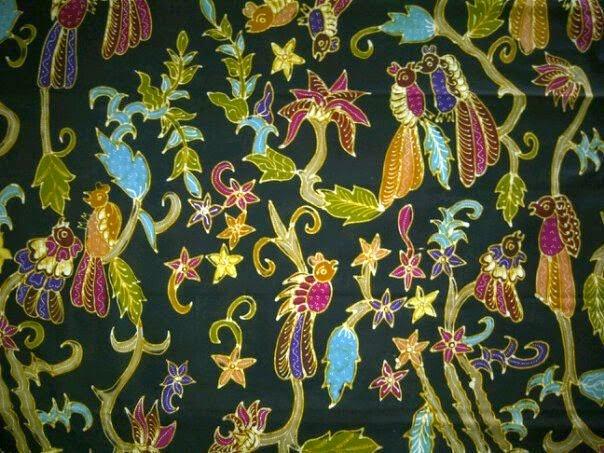 Batik bakaran motif burung kasmaran b12ee3b810