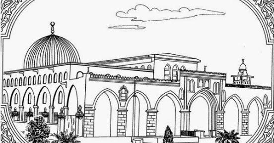 Kumpulan Gambar Masjid Animasi Hitam Putih Untuk Belajar