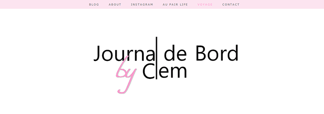 Design : Journal de bord by Clem - Modification Blogger