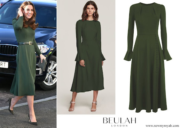Kate Middleton wore Beulah London Yahvi Midi Dress