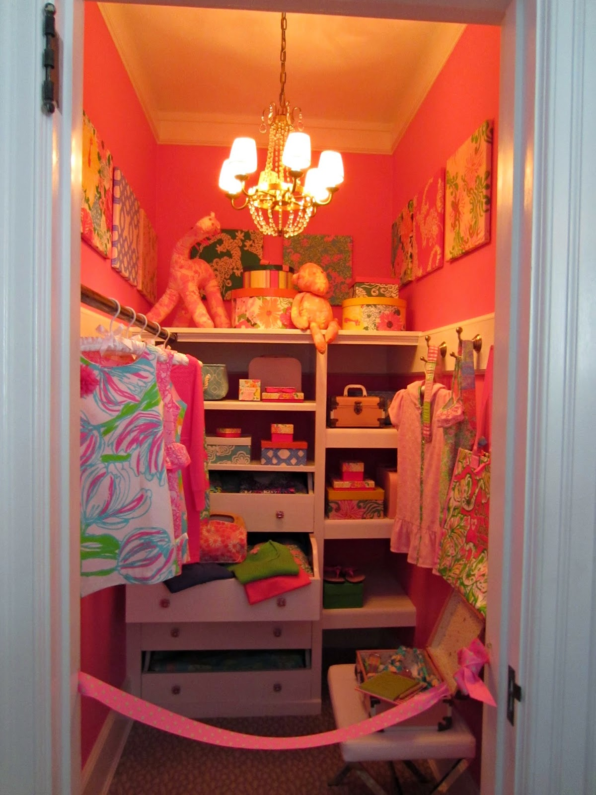 Lily Pulitzer closet - dream bedroom for girls