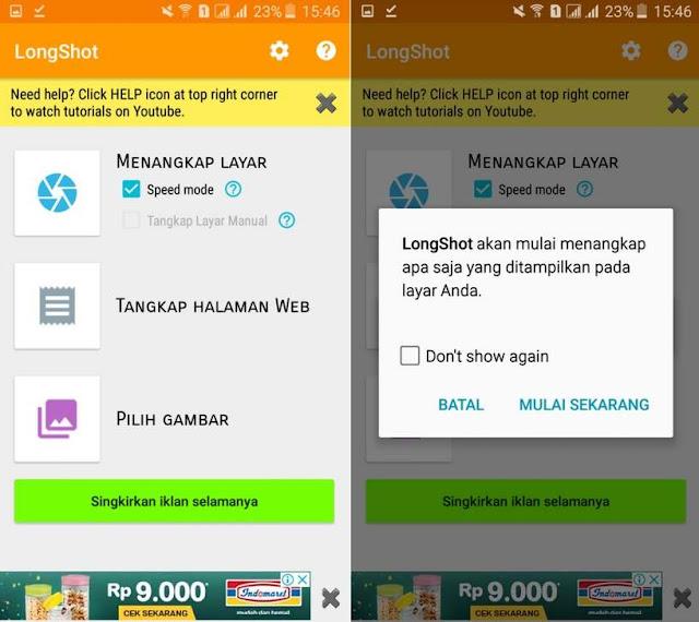 Cara Mengambil Screenshot Panjang Pada Layar di Android