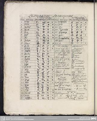 Alphabetum Armenicum et Fabulosa 1703 by Andreas Müller