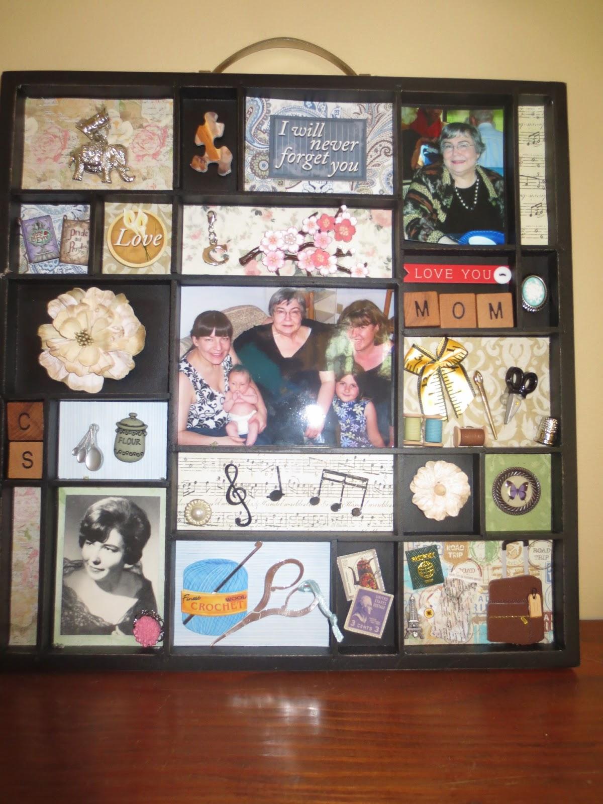 Revelations By A 40 Something Mom Memory Shadow Box For Mom