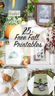 25 Free Fall Printables and Inspiring Vignettes