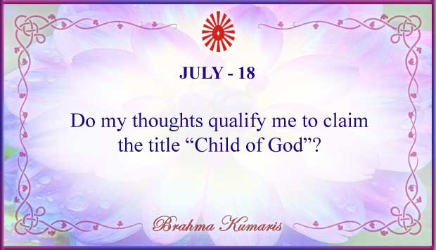 Thought For The Day July 18