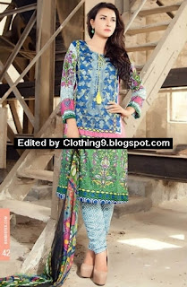 Ayesha Chottani Embroidered Dresses 2015 by Shariq