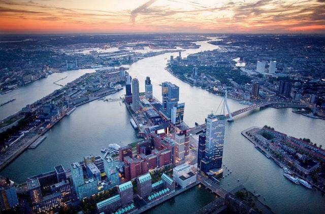 O que fazer à noite em Roterdã - vista da cidade