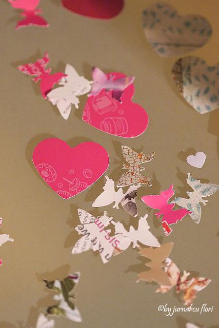 inimi roz si colorate de ziua indragostitilor