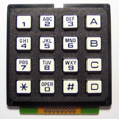4x4 KeyPad, Alphanumeric Mobile / Cell Phone Keypad C Code for PIC
