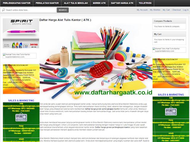 katalog ATK tersedia di toko online stationery www.daftarhargaatk.co.id