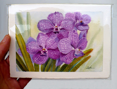 Part of my orchid paintings collection