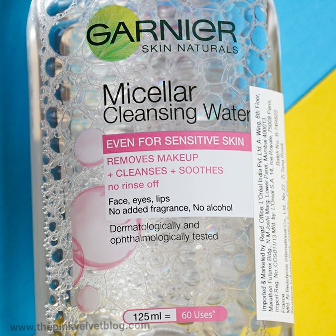 Garnier Micellar (Pink) Cleansing Water - Review - India