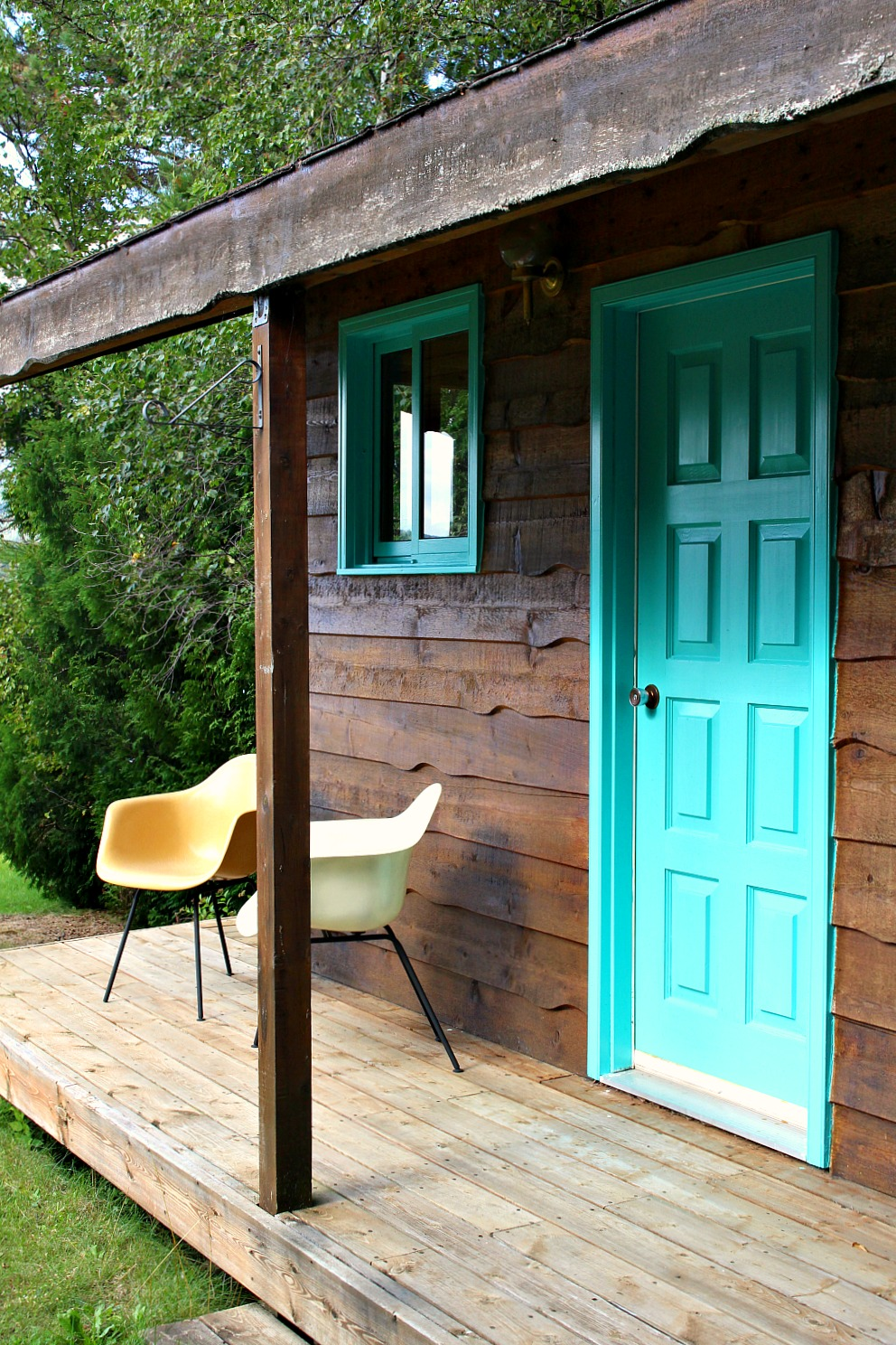 Turquoise House Exterior