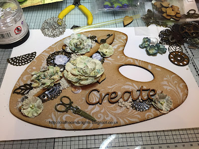 A Pretty MDF Artist Palette with Prima Products.