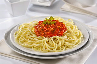 spaghetti with rich beef and mushroom sauce recipe