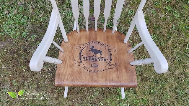 recupero creativo di una sedia a dondolo