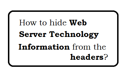 How to hide web server information from the headers?