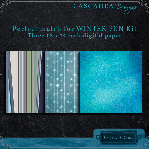 Cascadea Designs: Winter Fun FREEbie Paper Pack