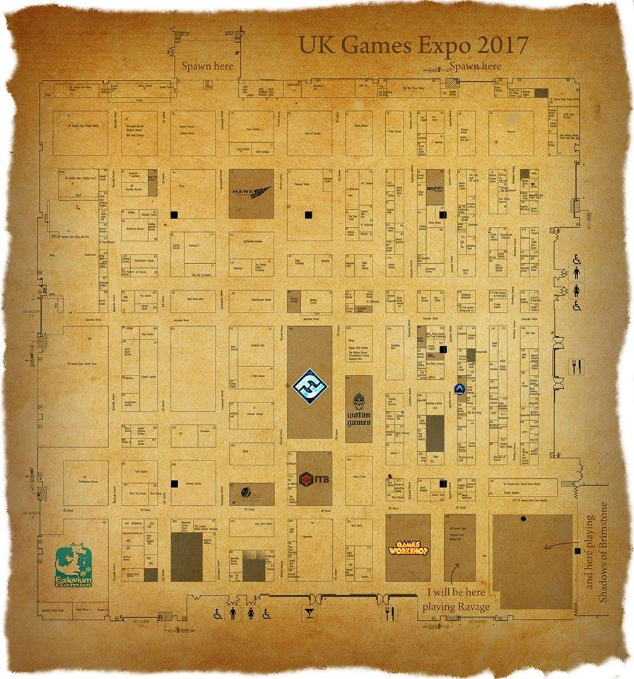 UK Games Expo 2017 map
