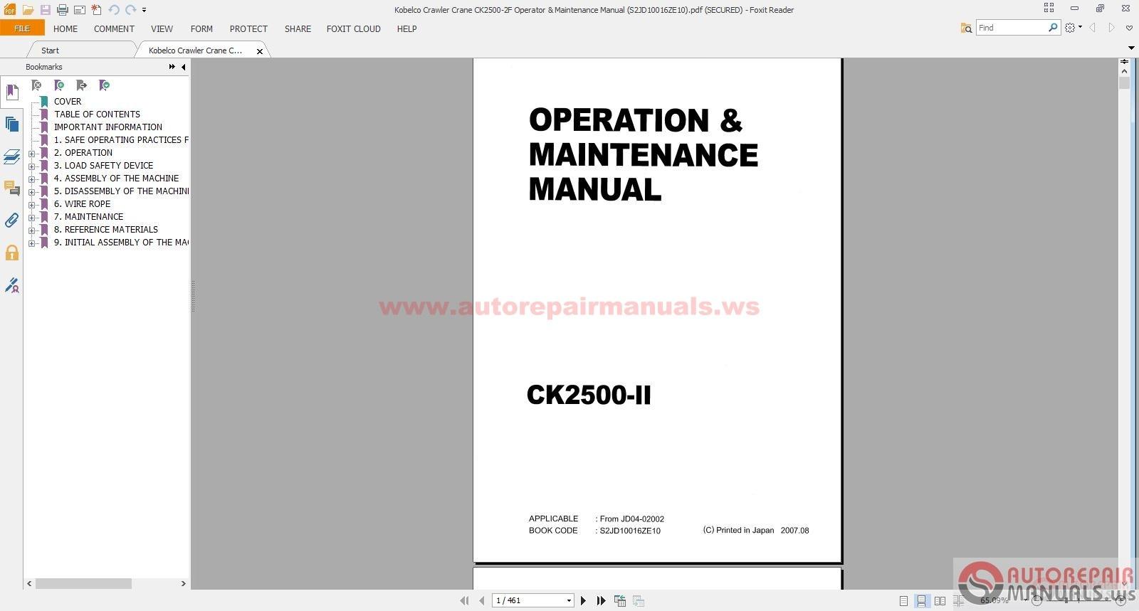 free auto repair manual kobelco crane shop manual. Black Bedroom Furniture Sets. Home Design Ideas