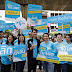 """dtac staff marches to 5 popular areas in with Nine Naphat to offer customers the joyful deals: """"Go No Limit"""" package and """"Go Plearn"""" SIM."""