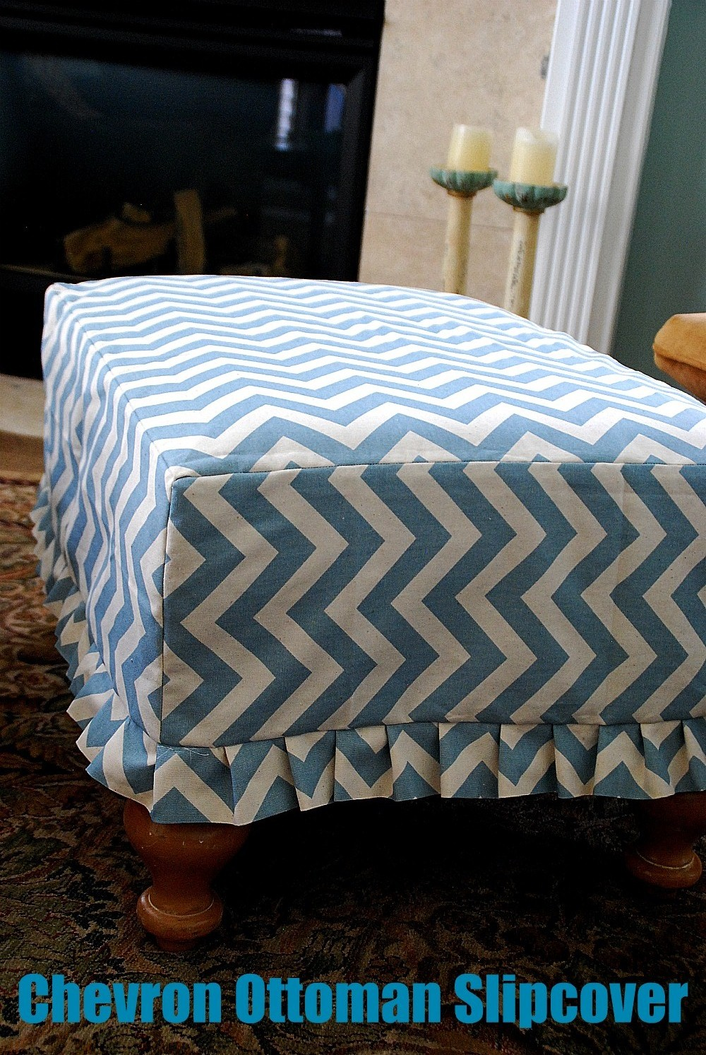 Fabric covered resin table redo - What is an ottoman ...