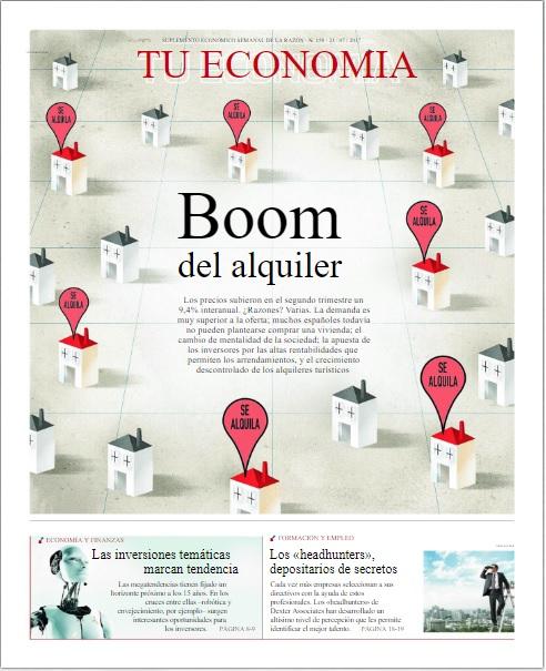 SUPLEMENTO ECONOMICO SEMANAL TU ECONOMIA DE LA RAZON DOMINGO 23 JULIO 2017